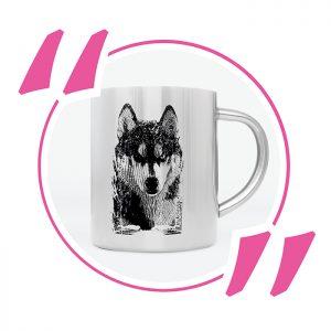 09 Husky Pies Kubek Metalowy Królewska 7 Micuda