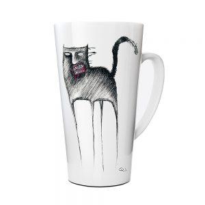 Kubek Latte Autroski HornyKitty z Nadrukiem Ilustracją #5