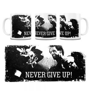 Kubek Motywacyjny Never Give UP z Grafiką #3