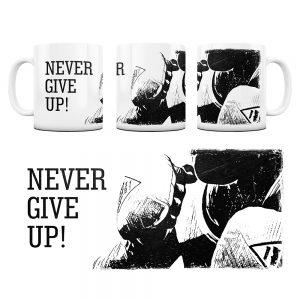 Kubek Motywacyjny Never Give UP z Grafiką #4