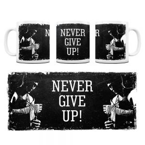 Kubek Motywacyjny Never Give UP z Grafiką #8