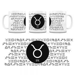 Znaki Zodiaków Hieroglify Kubek Prezent Byk