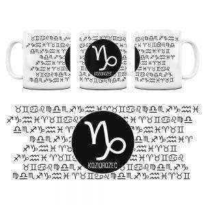 Znaki Zodiaków Hieroglify Kubek Prezent Koziorożec