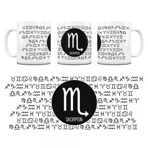 Znaki Zodiaków Hieroglify Kubek Prezent Skorpion