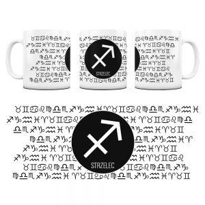Znaki Zodiaków Hieroglify Kubek Prezent Strzelec