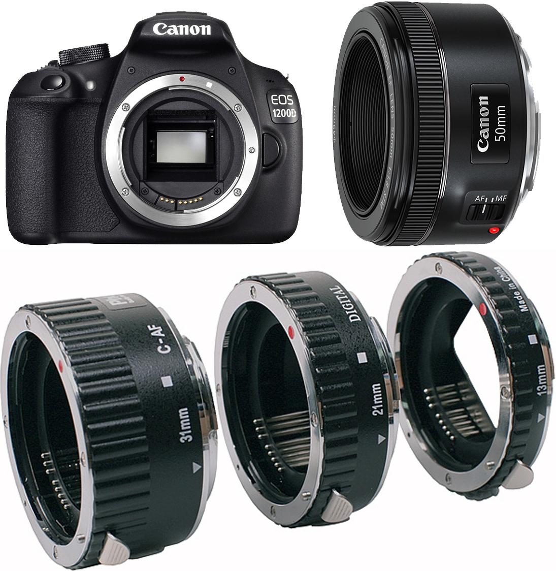 Portret + Makro EOS-1200D EF 50mm Phottix pierścienie pośrednie