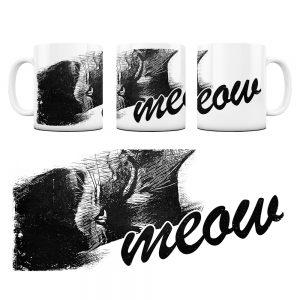 Kot Kubek z Grafiką meow #4
