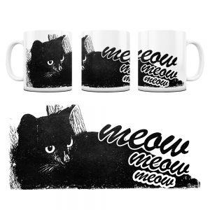 Kot Kubek z Grafiką meow #5
