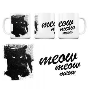 Kot Kubek z Grafiką meow #6