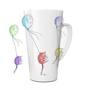 Kubek Latte Autroski HornyKitty z Nadrukiem Ilustracją #3
