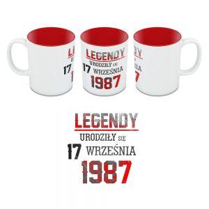 Kubek Legendy Urodziły się Czerwony Środek