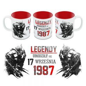 Kubek Legendy Urodziły się Dla Niego Czerwonyy