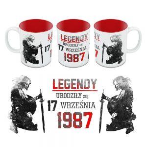Kubek Legendy Urodziły się Dla Niej Czerwony