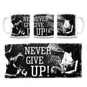 Kubek Motywacyjny Never Give UP z Grafiką #1