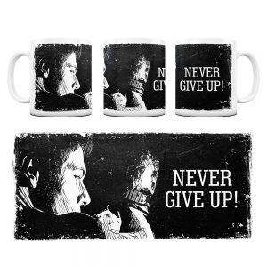 Kubek Motywacyjny Never Give UP z Grafiką #2