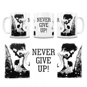 Kubek Motywacyjny Never Give UP z Grafiką #6