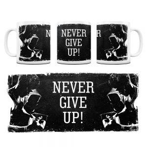 Kubek Motywacyjny Never Give UP z Grafiką #7