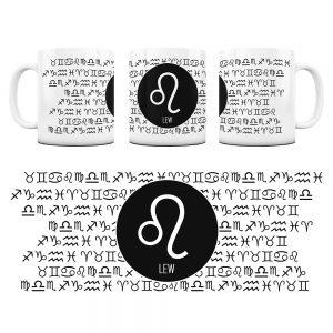 Znaki Zodiaków Hieroglify Kubek Prezent Lew