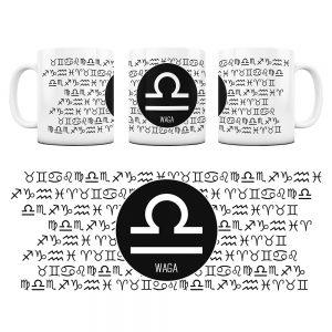 Znaki Zodiaków Hieroglify Kubek Prezent Waga