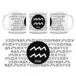 Znaki Zodiaków Hieroglify Kubek Prezent Wodnik