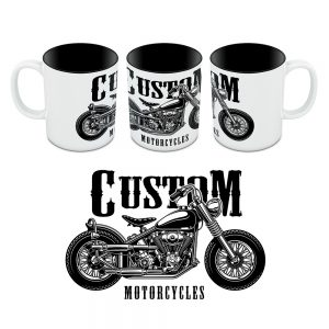 Kubek Custom Ride to Live - Motory 06
