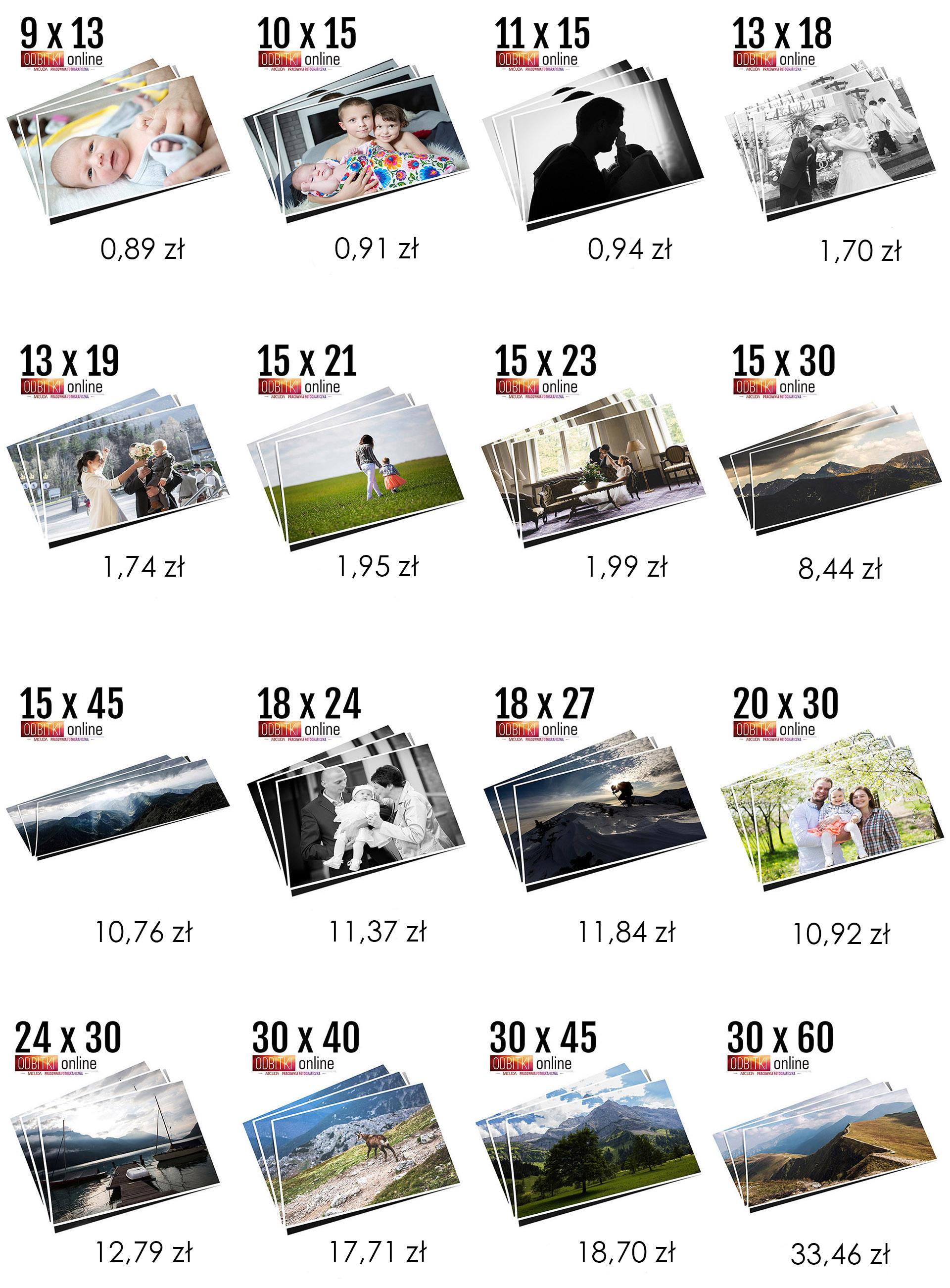 Odbitki Cyfrowe 10x15 20x30 30x40 30x45 Pracownia Fotograiczna Micuda Zdjęcia